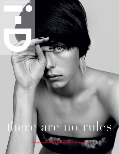 PRESS Edie Campbell shot by Alasdair McLellan for ID Magazine
